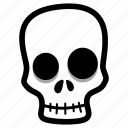 halloween, skelleton, skull icon