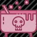 cauldron, halloween, monotone, poison icon