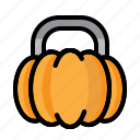 chocolate, halloween, holiday, monster, pumpkin, stick icon