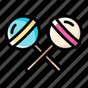candy, double, halloween, lollipop, sweet icon