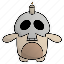 cute, halloween, monsters, pumpkin, scary, skull, spooky icon