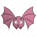bat, cute, halloween, monsters, pumpkin, scary, spooky icon