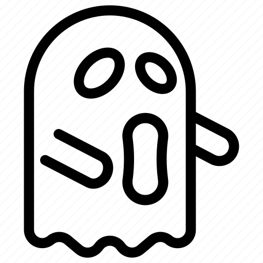 ghost, halloween, holiday, horror, mask, outline, scary icon