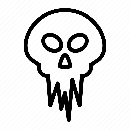 death, halloween, horror, monster, scary, skull icon