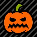 angry, emoji, grrr, halloween, pumpkin, teeth icon