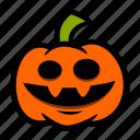 big, emoji, halloween, pumpkin, smile icon