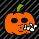 emoji, halloween, music, pumpkin, tune, whistle