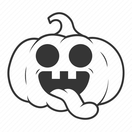 halloween, language, pumpkin, smile, tongue icon