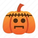 scary, spooky, halloween, orange, frankenstein, jack o lantern, pumpkin
