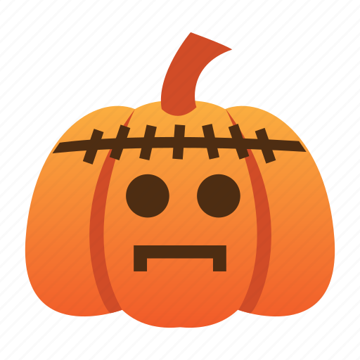 frankenstein, halloween, jack o lantern, orange, pumpkin, scary, spooky icon