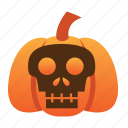 scary, spooky, halloween, orange, jack o lantern, scull, pumpkin