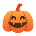 halloween, jack o lantern, orange, pumpkin, scary, spooky, vampire icon