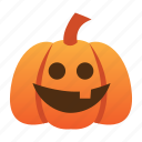funny, halloween, jack o lantern, orange, pumpkin, scary, spooky icon