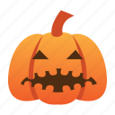 scary, spooky, halloween, evil, orange, jack o lantern, pumpkin