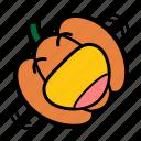 emoji, halloween, laugh, lol, rolling, jack-o-lantern, pumpkin icon