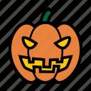 emoji, halloween, jack-o-lantern, laughing, pumpkin, smile, sneer icon
