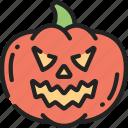 angry, evil, fruit, halloween, jack-o'-lantern, pumpkin, smile icon