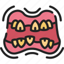 dead, evil, halloween, mouth, teeth, zombie