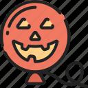 balloon, evil, floating, halloween, smile