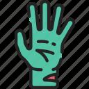 arm, dead, evil, halloween, hand, zombie icon
