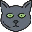 black cat, cat, evil, feline, halloween icon