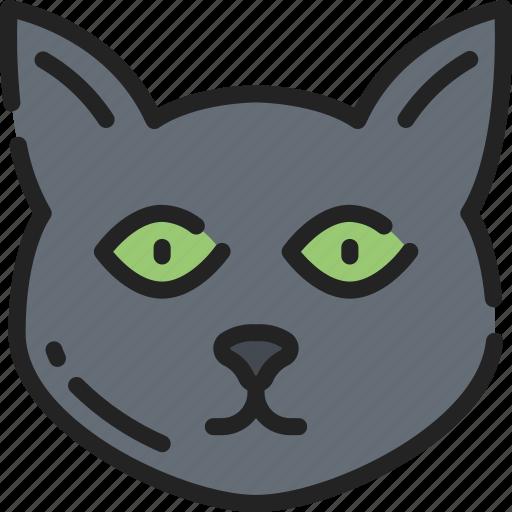 Black cat, cat, evil, feline, halloween icon - Download on Iconfinder