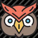 animal, bird, evil, halloween, owl icon