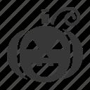halloween, horror, jack-o'-lantern, pumpkin, scary, spooky icon