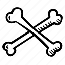 bones, crossed, halloween, holiday, scary, spooky icon