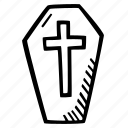 coffin, halloween, holiday, scary, spooky icon