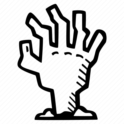 dead, halloween, hand, holiday, mans, scary, spooky icon