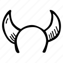 devils, halloween, holiday, horns, scary, spooky icon