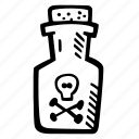 halloween, holiday, poison, scary, spooky icon