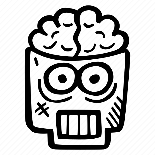 brains, halloween, holiday, scary, skull, spooky icon