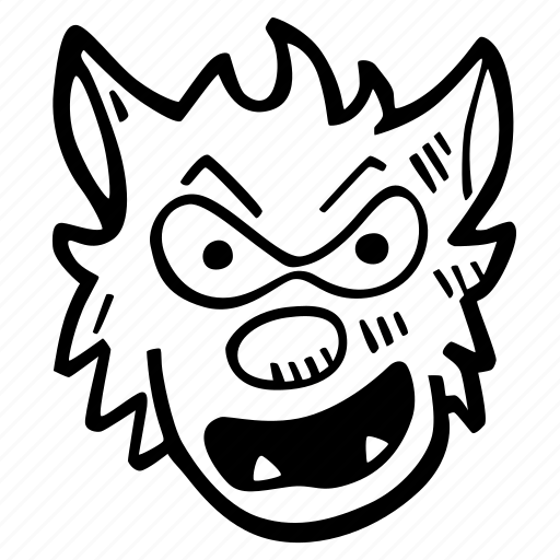 halloween, holiday, scary, spooky, werewolf icon