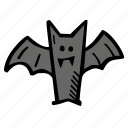 bat, halloween, holiday, scary, spooky icon