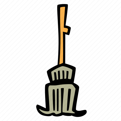 broomstick, halloween, holiday, scary, spooky icon