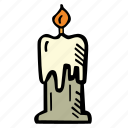candle, halloween, holiday, scary, spooky icon
