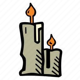 candles, halloween, holiday, scary, spooky icon