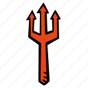 devils, halloween, holiday, scary, spooky, trident icon