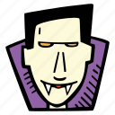 dracula, halloween, holiday, scary, spooky icon