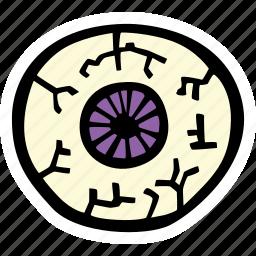 eyeball, halloween, holiday, scary, spooky icon
