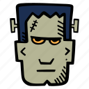 frankenstein, halloween, holiday, scary, spooky icon