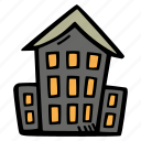 halloween, holiday, house, scary, spooky icon