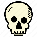 halloween, holiday, scary, skull, spooky icon