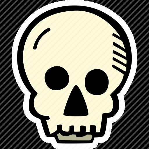 halloween, holiday, scary, skull, spooky icon