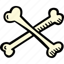 scary, spooky, halloween, crossed, bones, holiday icon