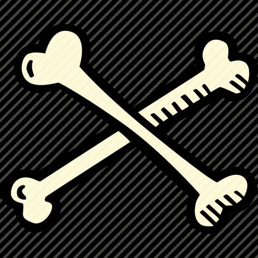 bones, crossed, halloween, holiday, scary, spooky icon