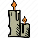 candles, holiday, halloween, scary, spooky icon