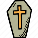 scary, holiday, halloween, coffin, spooky icon